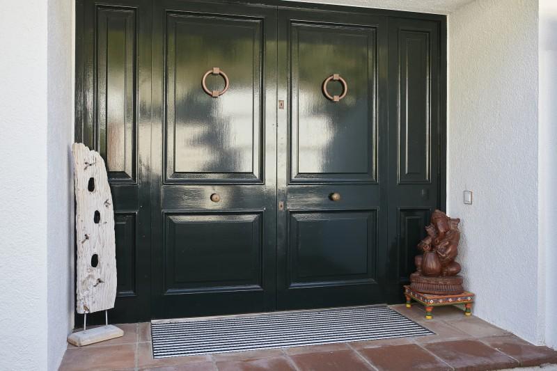 Entrance outside the house